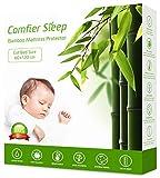 Protector de colchón para Cuna Supersuave, 60x120 de bambú, Transpirable, no Ruidoso, Antibacteriano, Ajusta Completamente, Hipoalergénico, Anti-bacteriano, Anti-acaros