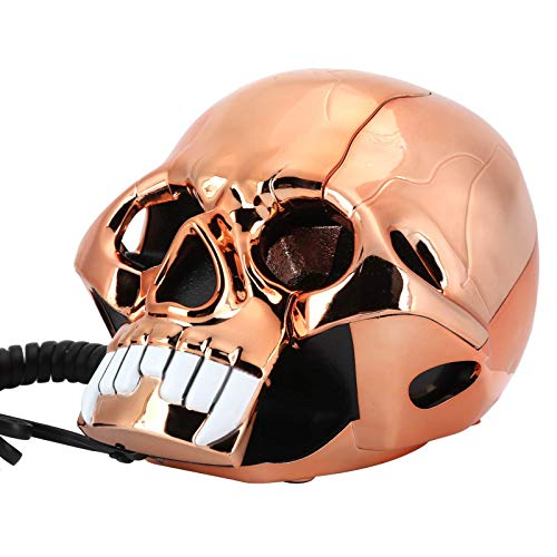 LDDZB Innovador Divertido Teléfono de Halloween, Decoración de Hogar Portátil Teléfono Fijo con luz LED, Marcación con botón, Regalo de función de reducción de Ruido