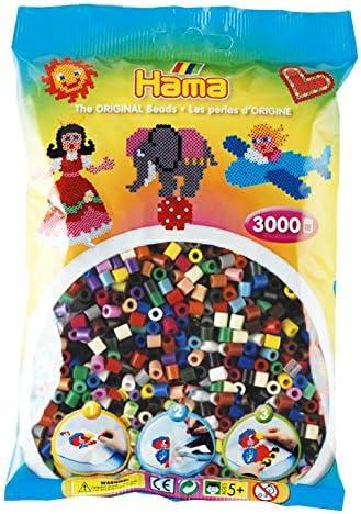 Hama - 201-54 - Loisirs Créatifs - Sachet 3000 Perles à Repasser - Taille Midi - Mélange Pailleté