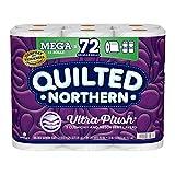 Quilted Northern Ultra Plush Toilet Paper, 18 Mega Rolls = 72 Regular Rolls, 3-Ply Bath Tissue