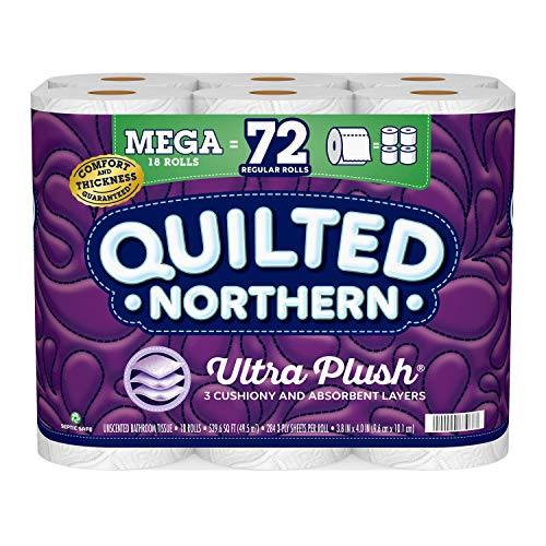 Quilted Northern Ultra Plush Toilet Paper, 18 Mega Rolls =...