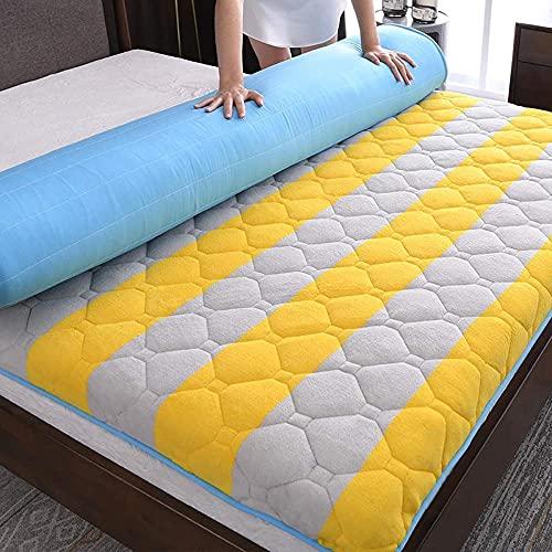 Futón Colchón de piso en 10 cm de espesor franela tradicional japonés futón colchón de colchón dormir tatami tapete colchón colchón para dormitorio dormitorio b 120 * 190 cm-A_180 x 200 cm Perfec