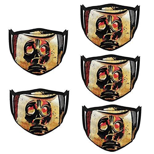 KarlMRush Hank Williams Iii Hillbilly Joker Outdoor Bandanas,Masks,Mouth Guard,Balaclava,Neck Gaiter Dustproof Scarf,Face Cover (5 Pack)