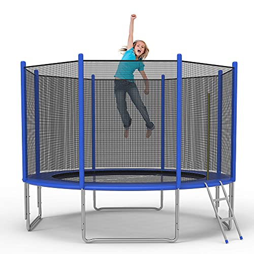 Koreyosh 10FT Trampoline with Safety Enclosure Net and Ladder Bounding Table,Trampoline Combo Jumping Trampoline Fitness for Kids,Teenagers & Adults,Indoor and Outdoor