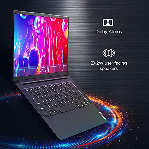 "Lenovo Yoga Slim 7i 11 Gen Intel Core i5 14""(35.56cm) FHD IPS 300Nits Thin & Light Touch Laptop (16GB/512GB SSD/Windows 10/MS Office/Backlit Keyboard/Fingerprint Reader/Slate Grey/1.36Kg), 82A300DFIN"