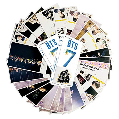 KPOP Bangtan Boys BTS Map of the soul 7 Card Set (30PCS Postcards, 30PCS Bookmark, 280PCS Mini Stickers/paster)(style1)