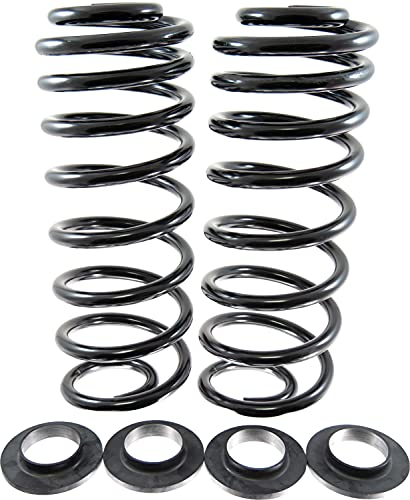 APDTY 133862 Air Ride Rubber Bag To Steel Coil Spring Suspension Conversion Kit (Includes Rubber Spring Seat Isolators)
