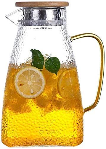 Tetera Tetera de 1,4 l / l Bidón jarra de agua con la tapa de la botella de plástico jarro de agua-Libre garrafa de cristal garrafa de agua - BPA del Jarro de cristal y el jarro de agua té Jug Boquill