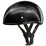 Daytona Helmets Motorcycle Half Helmet Skull Cap- Carbon Fiber W/O Visor 100% DOT Approved