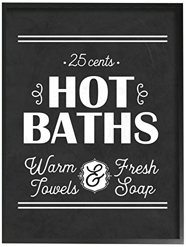 Stupell Industries Hot Baths, warm Handtücher, Fresh Seife Übergroße, Giclée Texturized Art, Holz, Mehrfarbig, 40,64x 3,81x 50,8cm