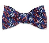 Josh Bach Men's DNA Strand Self-Tie Silk Bow Tie Blue, Made in USA
