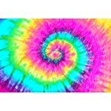 18 x 12 Pink Tie Dye HTV Printed Heat Transfer Vinyl Craft Pattern Sheet Pastel Design