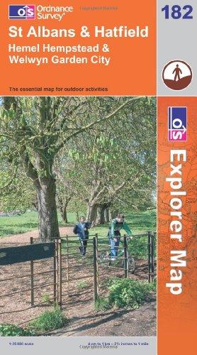OS Explorer map 182 : St Albans & Hatfield