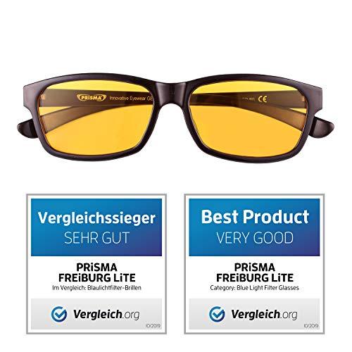 PRiSMA Blaulichtfilter-Brille FREiBURG - Blueblocker-Brille - Anti-Blaulicht - Computerbrille - Gamer Brille - bluelightprotect LiTE - F704 N