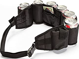 Beer and Soda Belt Insulated Inside Zipper Pocket Extra Pocket for Phone (6 Colors to Choose from)