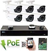 GW Security 8 Channel 4K NVR Super HD 1920P IP PoE Security Camera System with 6 Outdoor/Indoor 2.8-12mm Varifocal Zoom 5.0 Megapixel 1920P Cameras, QR Code Easy Setup, Remote Access View