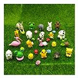 EMiEN Juego de 31 piezas de mini animales en miniatura, kit de adorno en miniatura para decoración de casa de muñecas, decoración de plantas de jardín