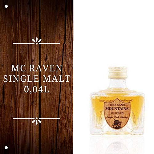 Mc Raven Single Malt Whisky - 46,2% Vol. – (1 x 0.04 Liter) - Single Malt Whisky