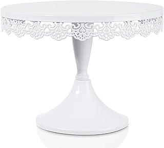 پایه کیک سفید فلزی SOPRETY 10in، پایه های مخصوص نمایش دسر جا کاپ کیک، دکوراسیون عروسی، تولد، مهمانی، دور