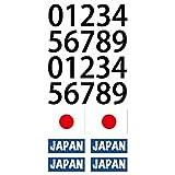 サッカー タトゥー フェイス シール オリンピック ワールドカップ 日本 応援 グッズ 日の丸 ジャパン ブルー 背番号 (B)