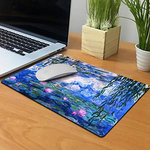 Extra Large (X-Large) Size Non-Slip Rectangle Mousepad, FINCIBO Claude Monet Water Lilies Mouse Pad for Home, Office and Gaming Desk Photo #4