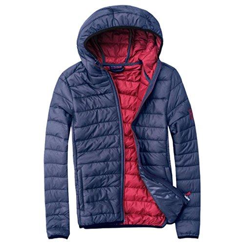 EXUMA Damen Sportbekleidung Aufgeblasen Jacke, Navy, M