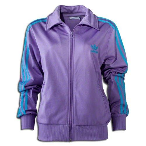 99491db1c2b0 Adidas Firebird Women`s Track Jacket - Super Purple   Super Cyan (Small)