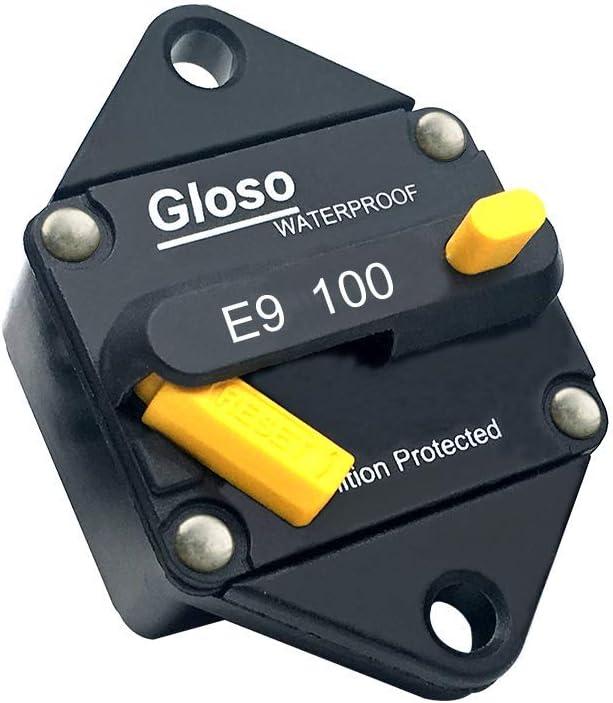 70A GLOSO E96 Panel Mount Waterproof IP67 Marine Auto Truck Hi-Amp with Gasket Circuit Breaker