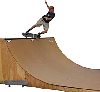 Traceable 6 Foot Tall Halfpipe Skateboard Ramp Template – Full Size CNC Drawn Pattern with Instruction Booklet, Coping Blocks and Skatelite Sample