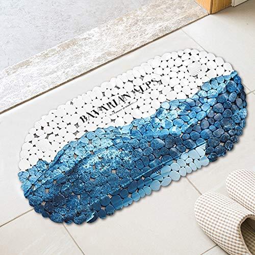 CayCay Non-Slip Mat PVC Bathroom Shower Bath Bath Toilet Bathroom Suction Plate Foot Mat Home Space Mat Door Mat 35 * 69cm 2