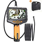 Teslong Classic Industrial Endoscope with 4.5inch IPS Screen, Handheld Borescope Inspection Camera with 0.21inch Waterproof Gooseneck Probe, 6 LED Lights, 32G Memory Card, Tool Case(3m/9.8ft)