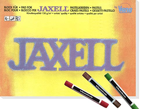 CSB-Center & Vang Jaxell - Block für Pastellkreide in Künstlerqualität inkl. 3 Softpastellkreiden - DIN A4 (21 x 29,7 cm) 150g/m² - 50 Blatt