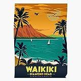 Vintage Island Poster America Travel Retro Hawaii Das