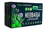 KliKil Kit de huerto urbano Herbaria Aromatic - Jardinera profesional...