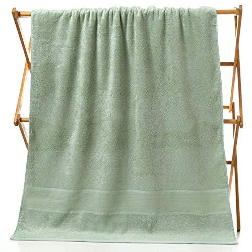 Toallas De Baño,Toallas De Playa,Toallas para Lavarse La Cara70Cm * 140Cm Seguro De Trabajo Infantil Suave Bambú Fibra De Carbono Verde
