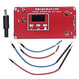 Mini soldadora por puntos, equipo portátil de máquina de soldadura por puntos de metal con transistores con pantalla LCD para soldar tiras de acero niquelado de 0,1 mm a 0,15 mm (batería no incluida)