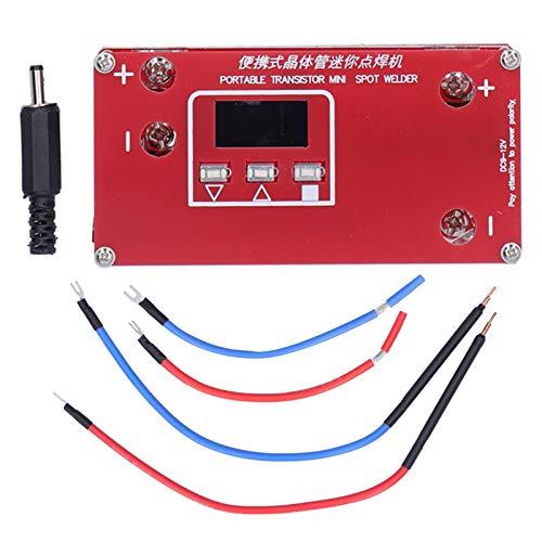 TAKE FANS Transistor portátil, Mini Soldador por Puntos de Bricolaje, Equipo de la máquina de Soldadura por Puntos con Pantalla LCD