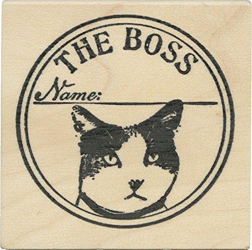 Cats Life Press The Boss Cat Seal Sello de Caucho