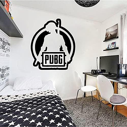 PUBG Winner Chicken Dinner Logo Sign Gun Arma Juego de disparos Vinilo Etiqueta de la pared Calcomanía Boy Dormitorio Sala de juegos Studio Club Home Decor Mural