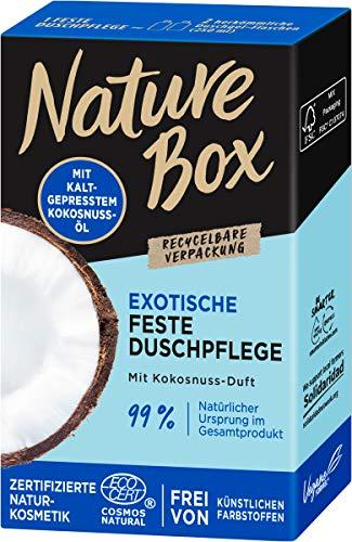 Nature Box Exotische Feste Duschpflege mit Kokosnuss-Duft, 100 ml