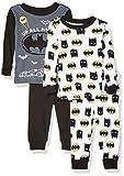 DC Comics Boys' Toddler Batman 4-Piece Cotton Pajama Set, Night Crusader, 2T
