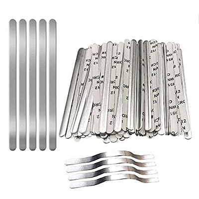 50 Pcs Nose Bridge Strip Metal Flat Aluminum St...