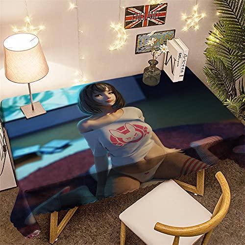 Rectangular Manteles Mesa Chica Anime 3D Impermeable Manteles 140x180cm Mantelerias Antimanchas Lavable...