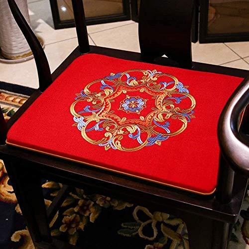 Mirui Chinese Rosewood Chair Cushion,futon Seat Cushion,non Slip Washable Chair Pad,tatami Floor Cushion,solid Wood Chair Cushion (Color : L, Size : 45x45cm(18x18inch))