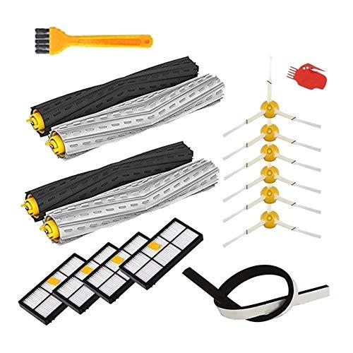 LIZONGFQ Zhang Asia Reemplazar los filtros HEPA Cepillo Kit de repuestos Accesorios en Forma for el iRobot Roomba 860 861 865 805 866 870 871 880 885 960 966 980 Serie (Color : White)