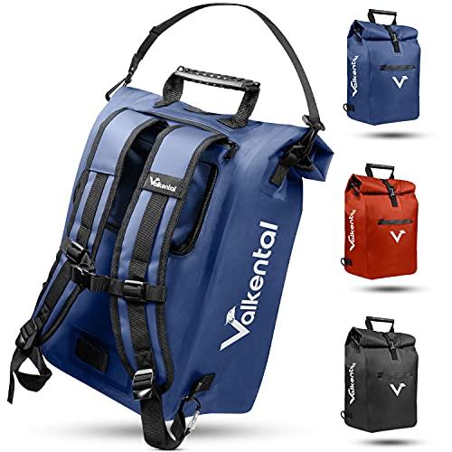 Valkental - 3in1 Fahrradtasche - Geeignet als Gepäckträgertasche, Rucksack und...