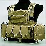 Chaleco táctico Caza Ciras Militar Airsoft Portador de Placa Exterior Descarga Pecho Rig Bag Molle Camping Viajes Deporte Trekking 3