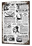 Funny Vintage Ads Collection Metal Sign Retro Tin Plaque Advert Weird & Crazy Talking Point Aluminum Wall Poster For Garage Man Cave Cafe Bar Pub Club Decoration 12'x8'