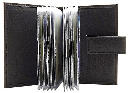 myledershop XL Kalb Leder Kreditkartenetui MJ-Design-Germany in verschiedenen Farben, Schwarz, Einheitsgröße