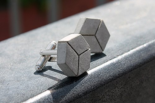 cubelinks - cufflinks made of concrete